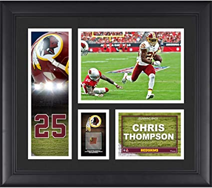 Chris Thompson Washington Redskins Framed 15 quot  x 17 quot  Player  Collage with a Piece of 9a86102c7