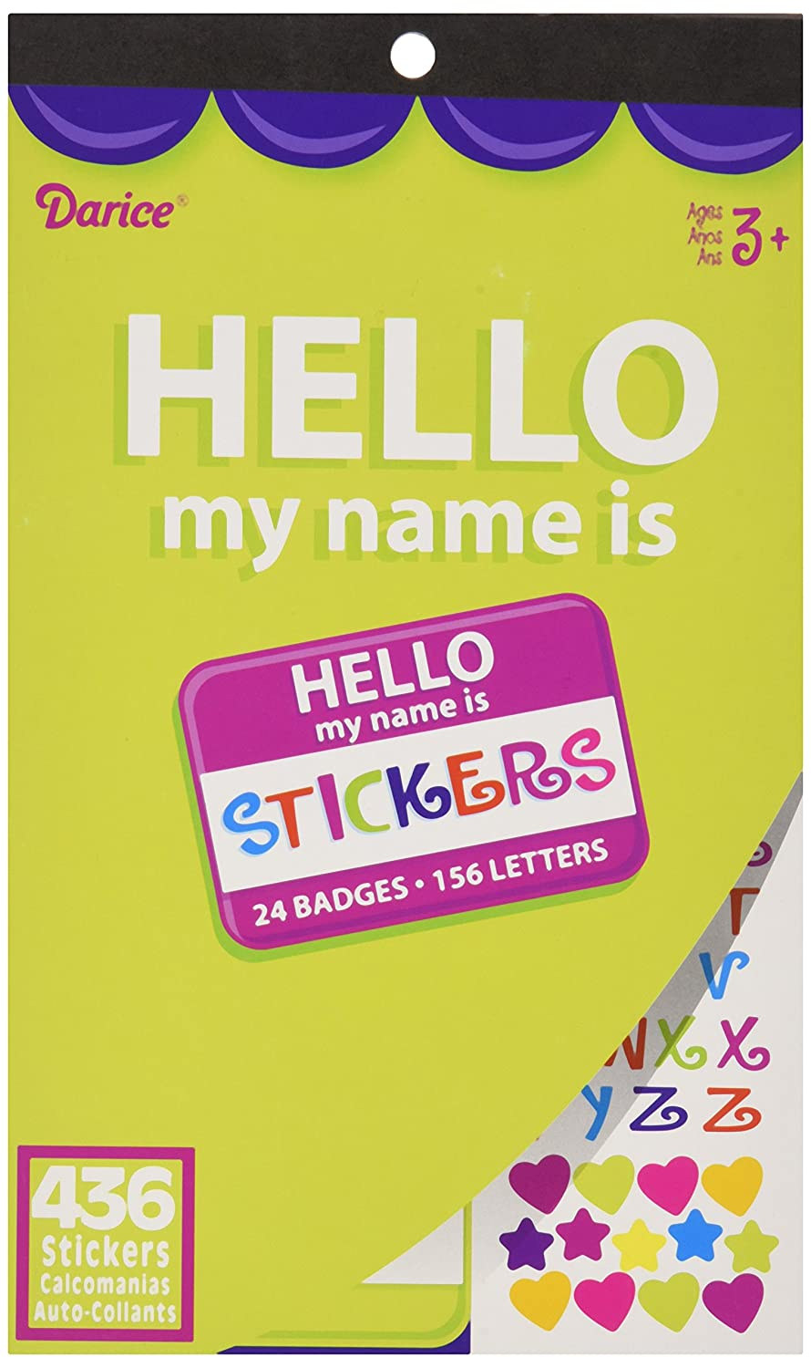 436 Stickers Notions Hello My Name Is Darice Velvet Sticker Book In Network 106158-4