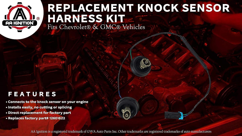 Knock Sensor Wire Harness Kit Replaces 12601822 917 033 2004 Silverado Wiring Diagram Fits Chevy Suburban Chevrolet Avalanche Tahoe Gmc Sierra Yukon