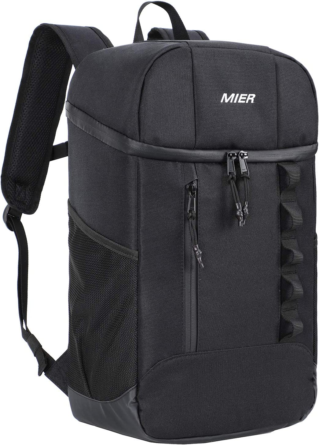 MIER Leakproof Insulated Backpack Lunch Cooler Backpack for Men and Women, Water Resistant, 20 Can, Black
