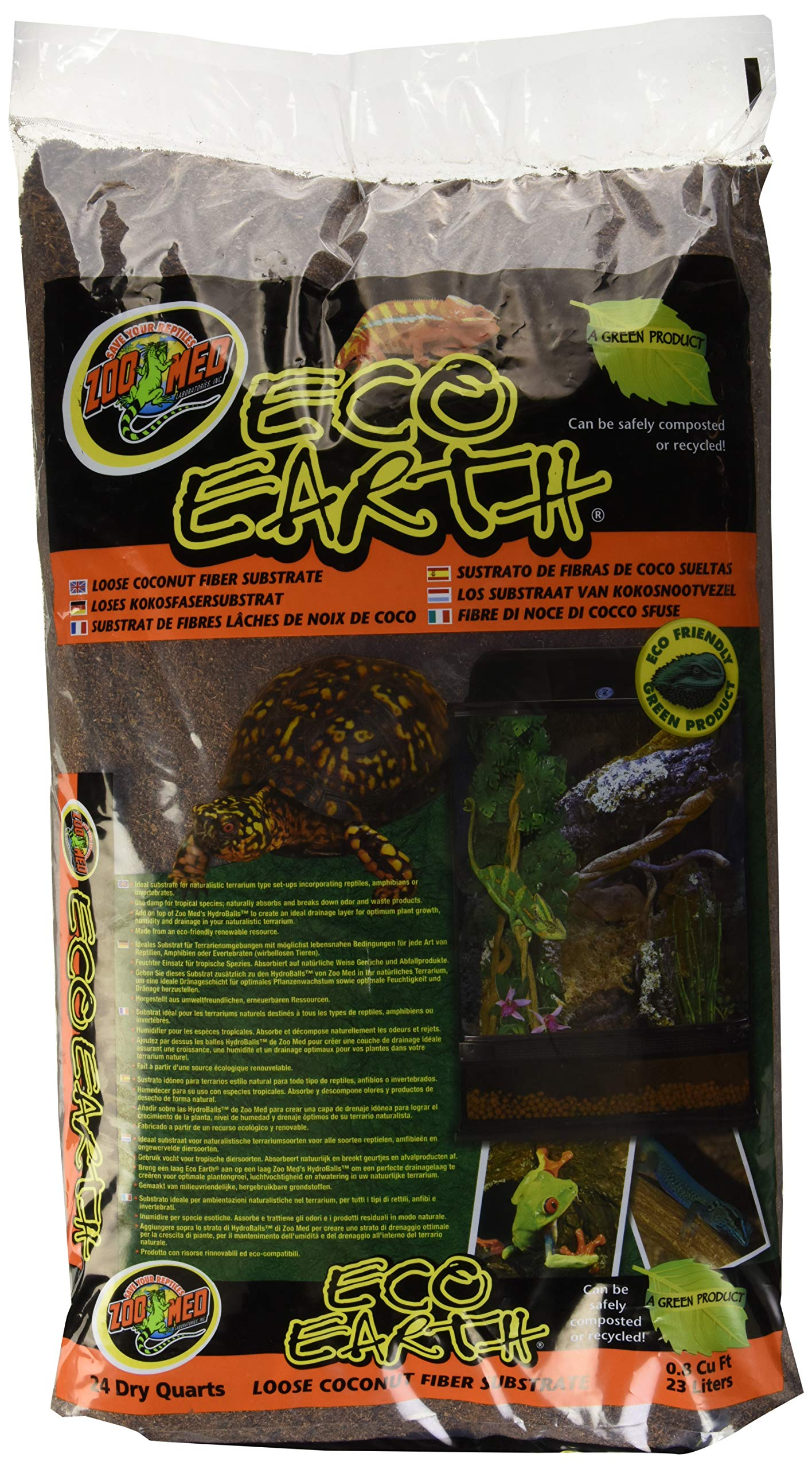 Zoo Med 26084 Eco Earth Loose Bag, 24 Quart by Zoo Med