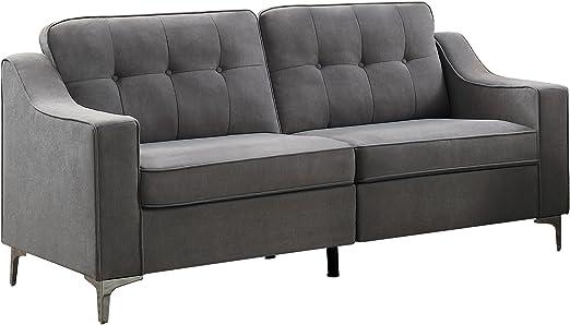 Amazon.com: homelegance murana tela sofá, Madera, Gris ...