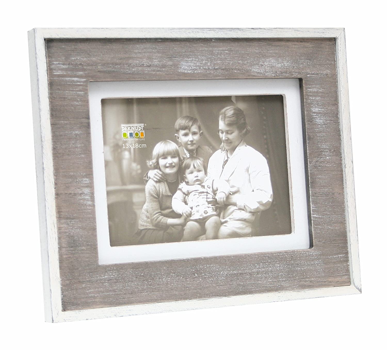 Amazon.de: Deknudt Frames S67TD1 Bilderrahmen, weißer Rand innen und ...