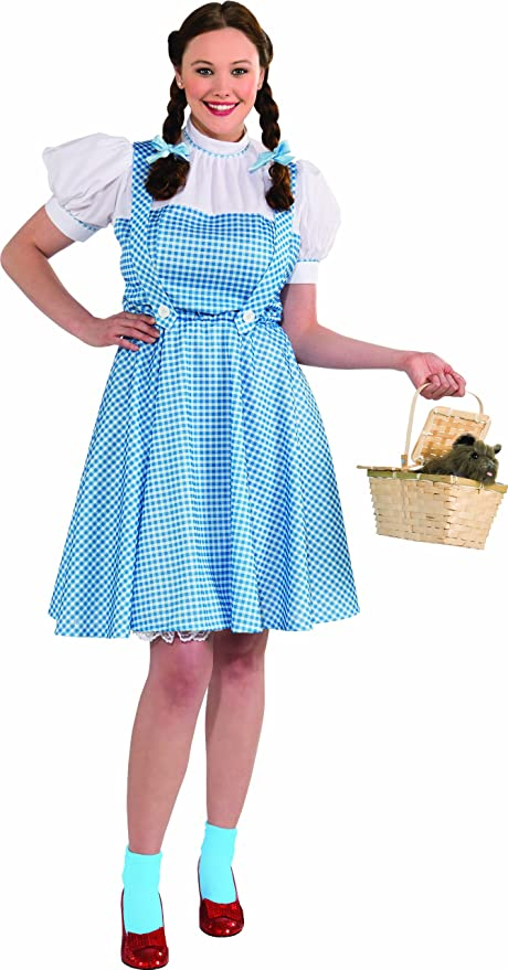 1940s Costumes- WW2, Nurse, Pinup, Rosie the Riveter Rubies Costume Plus-Size Wizard Of Oz Deluxe Dorothy Costume $27.99 AT vintagedancer.com