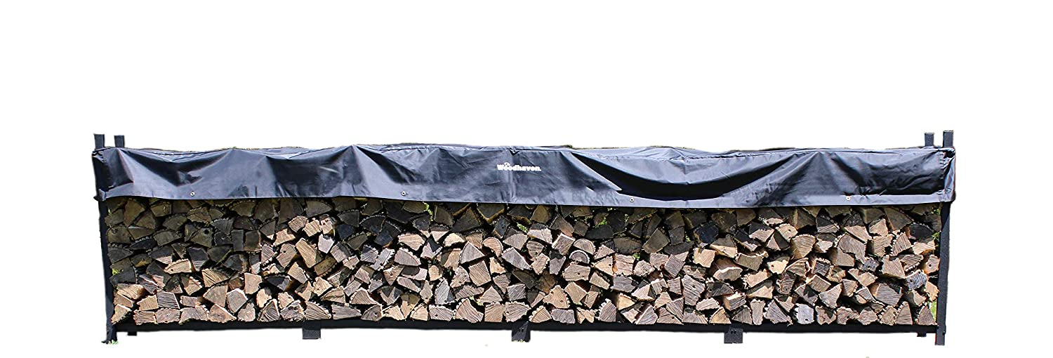 Woodhaven The 16 Foot Firewood Log Rack with Cover