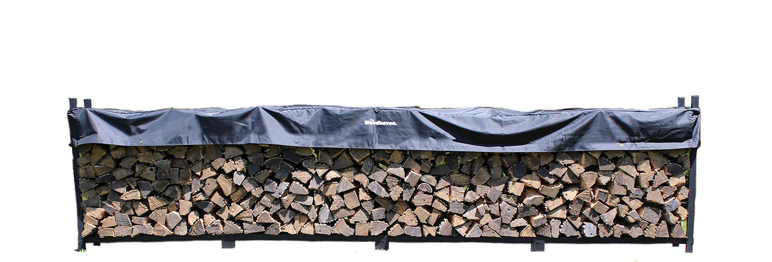 Woodhaven The 16 Foot Firewood Log Rack with Cover by Woodhaven
