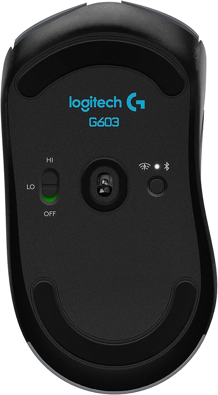 Logitech G603 LIGHTSPEED Wireless Gaming Mouse HERO Sensor 12000 DPI Lightweight Programmable Buttons 500h Battery Life On-Board Memory Mac Black
