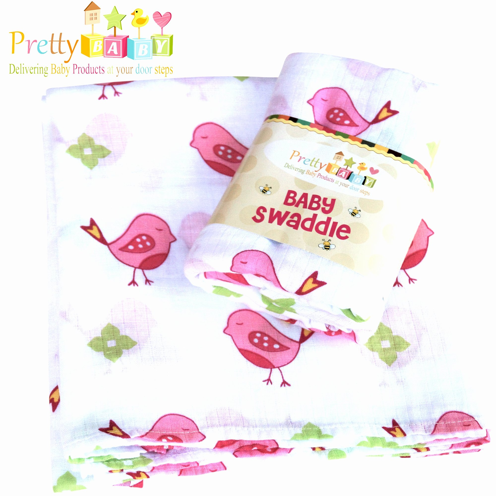 1 Soft & Breathable Baby Swaddle For Deeper Sleep. Multi Use Muslin Cotton Receiving, Swaddling Blanket, Nursing, Car Seat Cover. A Shower, Christmas Gifts. Baby Swaddle Blanket.