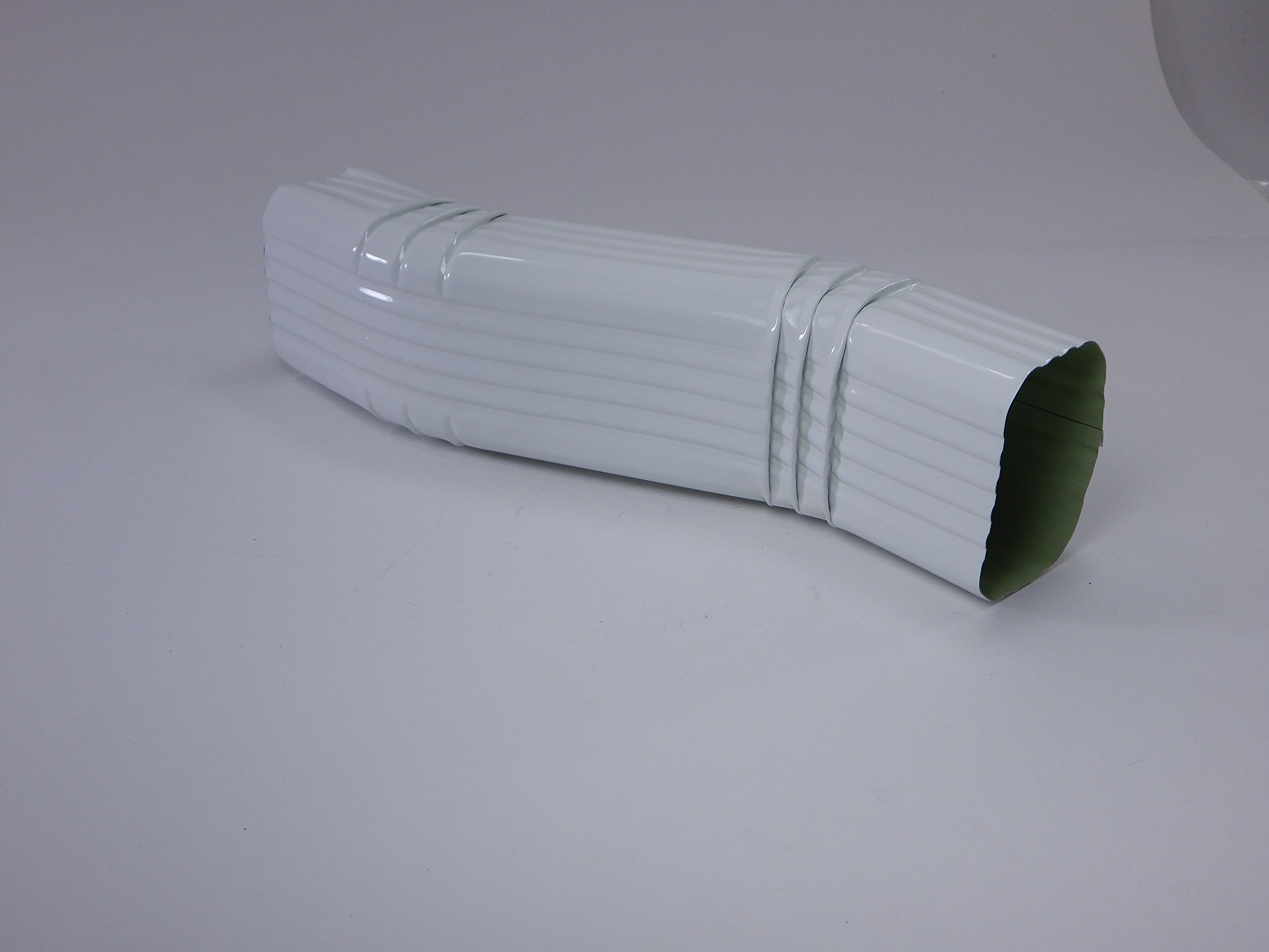 """2"""" x 3 Inch Aluminum Downspout A Style (3"""" offset) Zig Zag Elbows"""" White"""