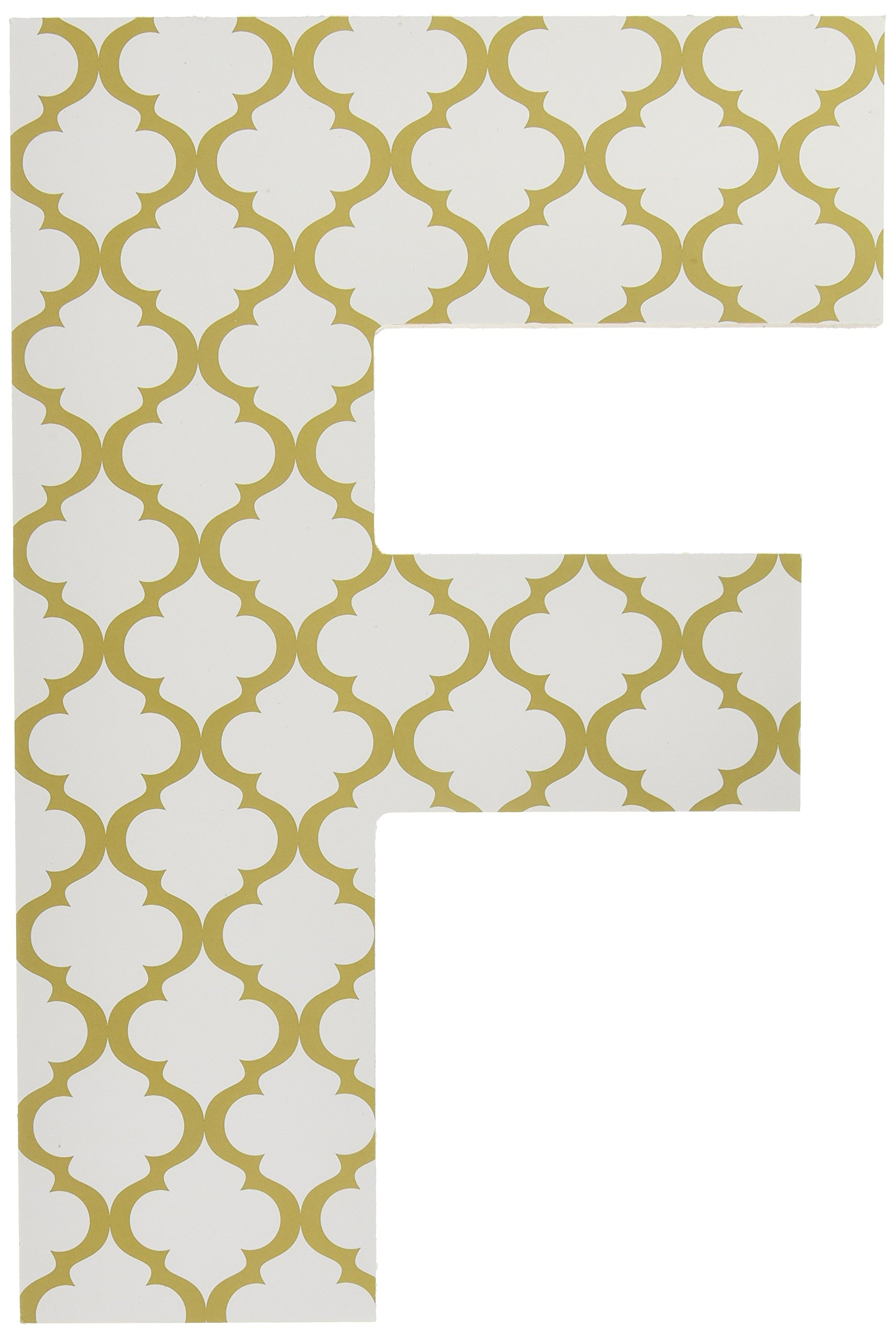 Stupell Home Décor Gold and White Trellis 18 Inch