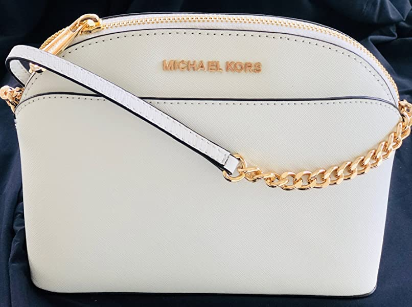 412c2caeff3c ... Michael Kors Emmy Saffiano Leather Medium Crossbody Bag White ...