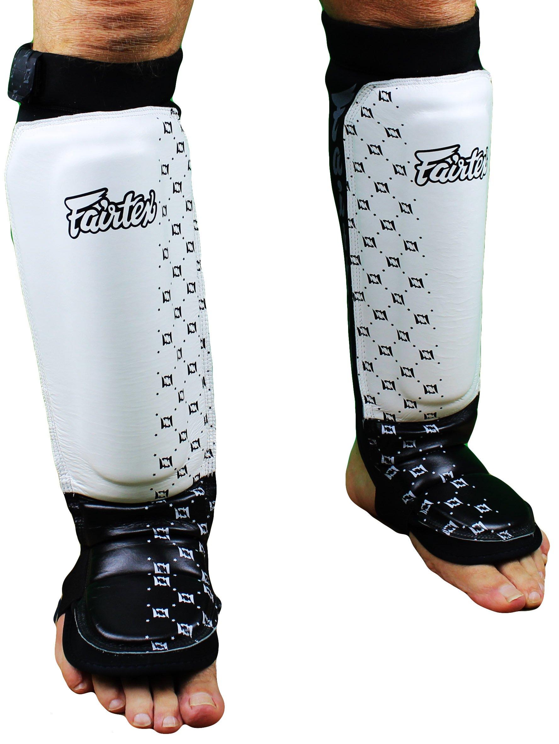 Fairtex Neoprene Shin Guards - White - Medium by Fairtex