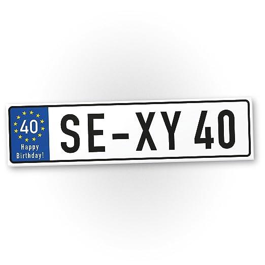 DankeDir!. Sexy 40 años plástico Cartel años – 40 cumpleaños Regalo, Regalo Idea Regalo de cumpleaños Cuatro zigsten, cumpleaños ...