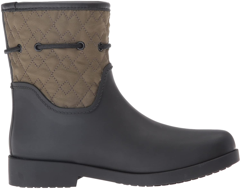 Amazon.com   Jessica Simpson Women's Racyn Rain Boot, Black/Dark Olive, 7 M US   Rain Footwear