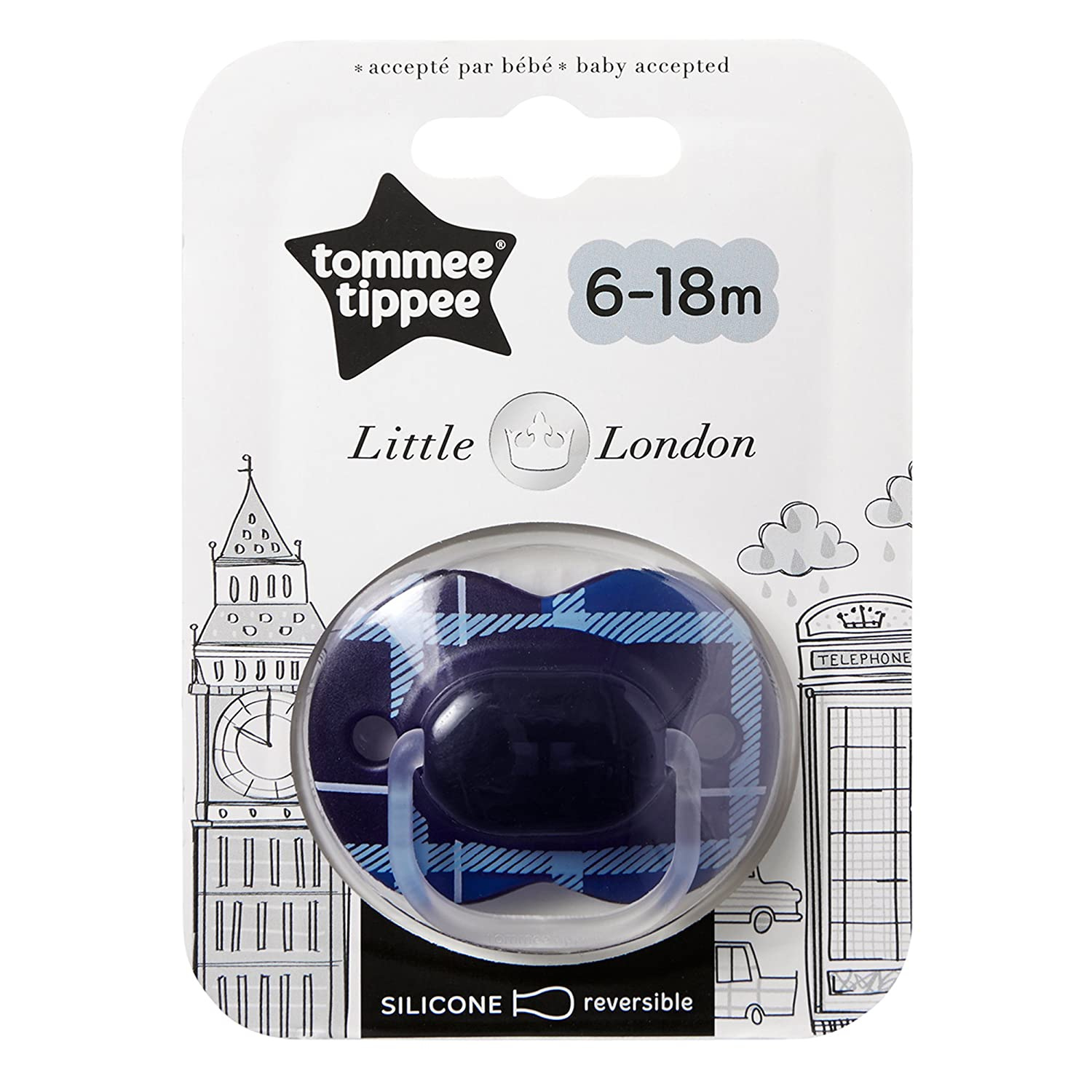 para 0-6 meses color rosado Tommee Tippee Closer to Nature dise/ño Little London Chupete
