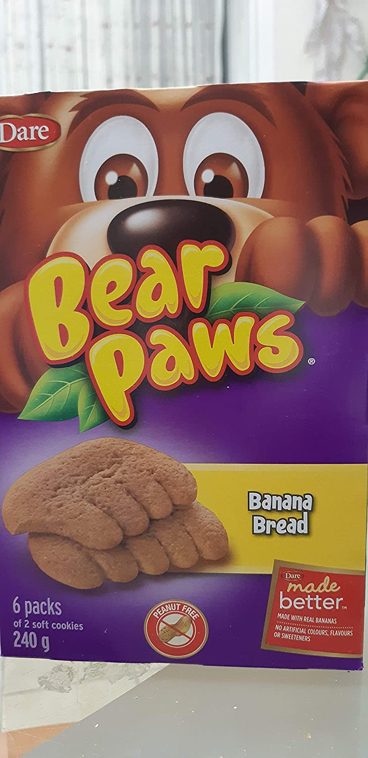 Dare Bear Paws Banana Bread Soft Snack Cookies 240g