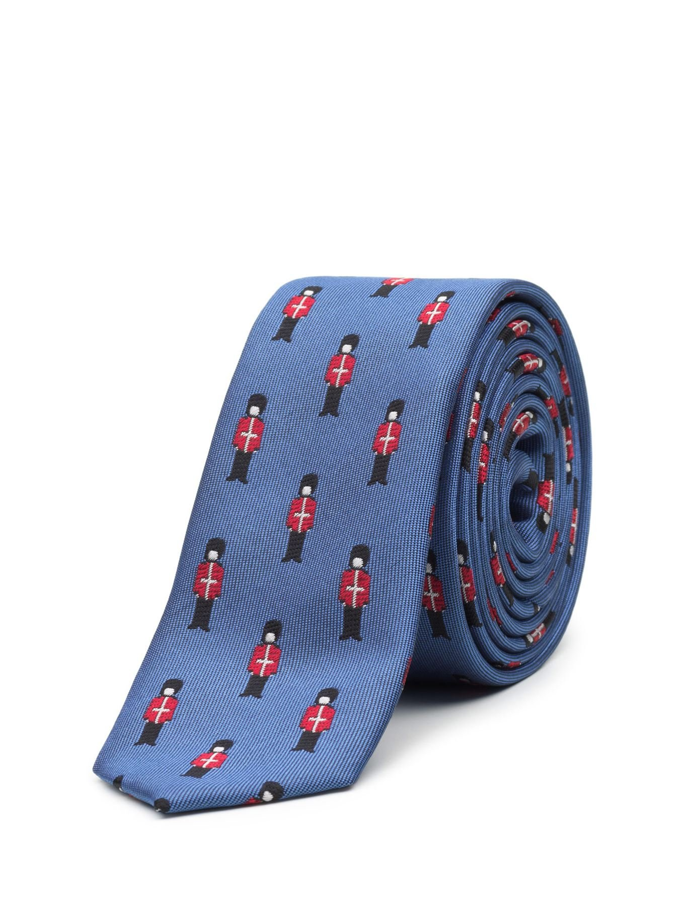 Paisley of London, Boys Royal Blue Queens Guard Slim Tie, One Size