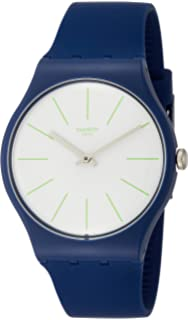 Swatch Originals Bluesounds White Dial Silicone Strap Mens Watch SUON127