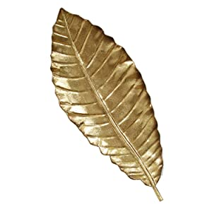 Stratton Home Decor SHD0112 Elegant Leaf Wall Decor, 8.46 W X 1.77 D X 21.06 H, Gold