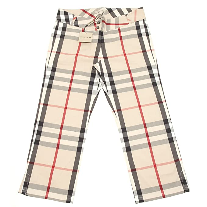 3442H pinocchietti bimba BURBERRY check pantaloni trousers pants kids [12 ANNI]: Amazon.es: Ropa y accesorios