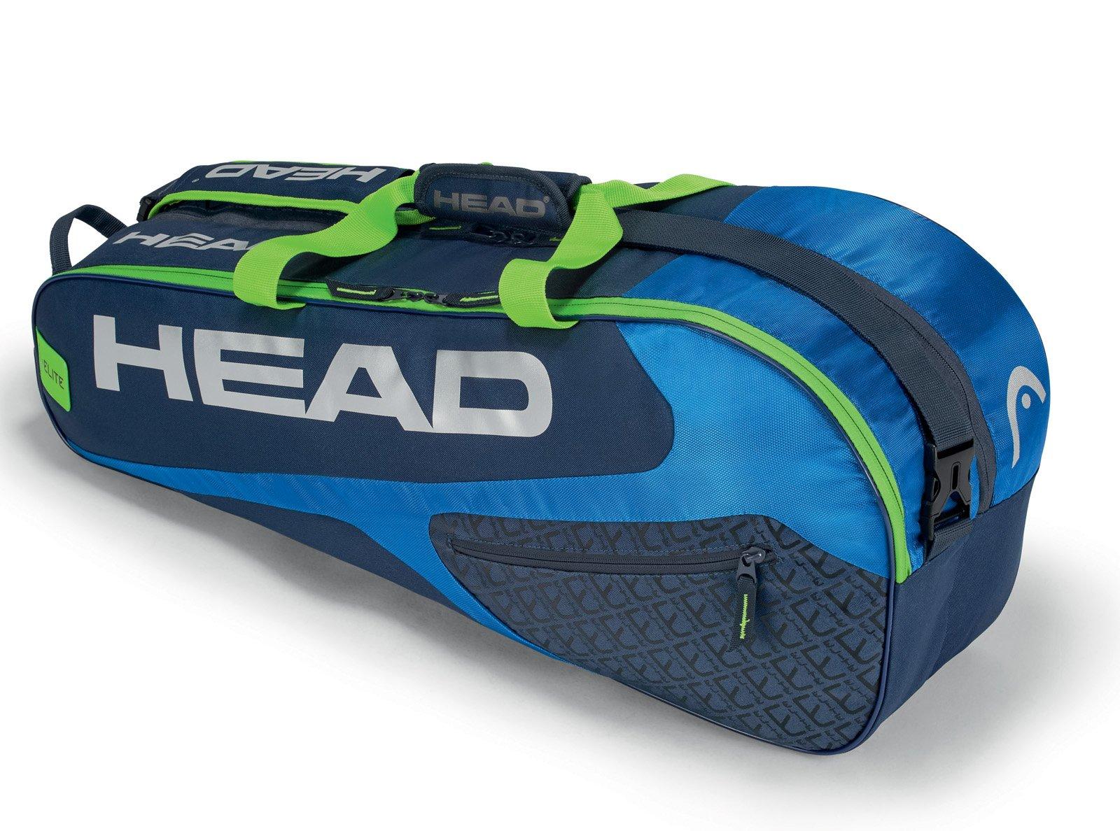 HEAD Elite Combi 6 Racquet Bag (Blue/Green)