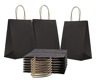 Amazon.com: Bolsas de papel de la compra 8 x 4,75 x 10,75 ...