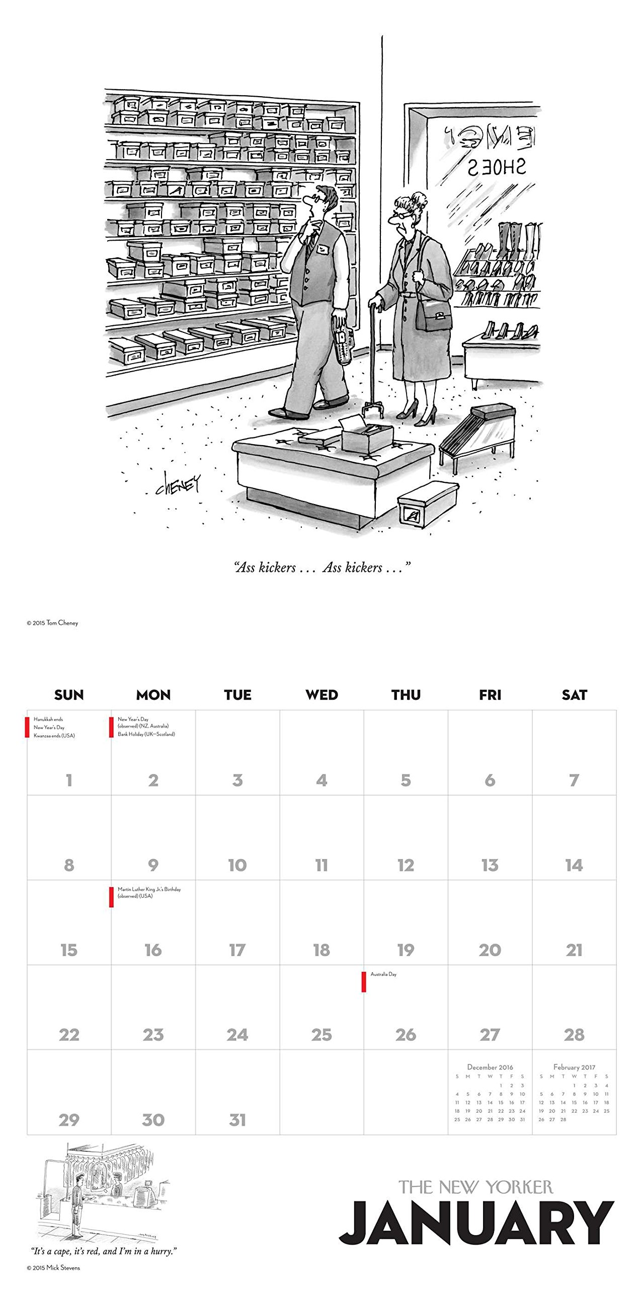 Cartoons from The New Yorker 2017 Wall Calendar: Conde Nast: 0050837353435:  Amazon.com: Books