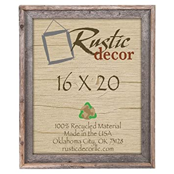 Amazoncom 16x20 Reclaimed Barn Wood Signature Wall Frame Rustic