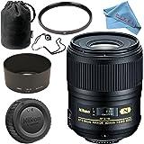 Nikon AF-S Micro-NIKKOR 60mm f/2.8G ED Lens + 62mm UV Filter + Fibercloth + Lens Capkeeper Bundle