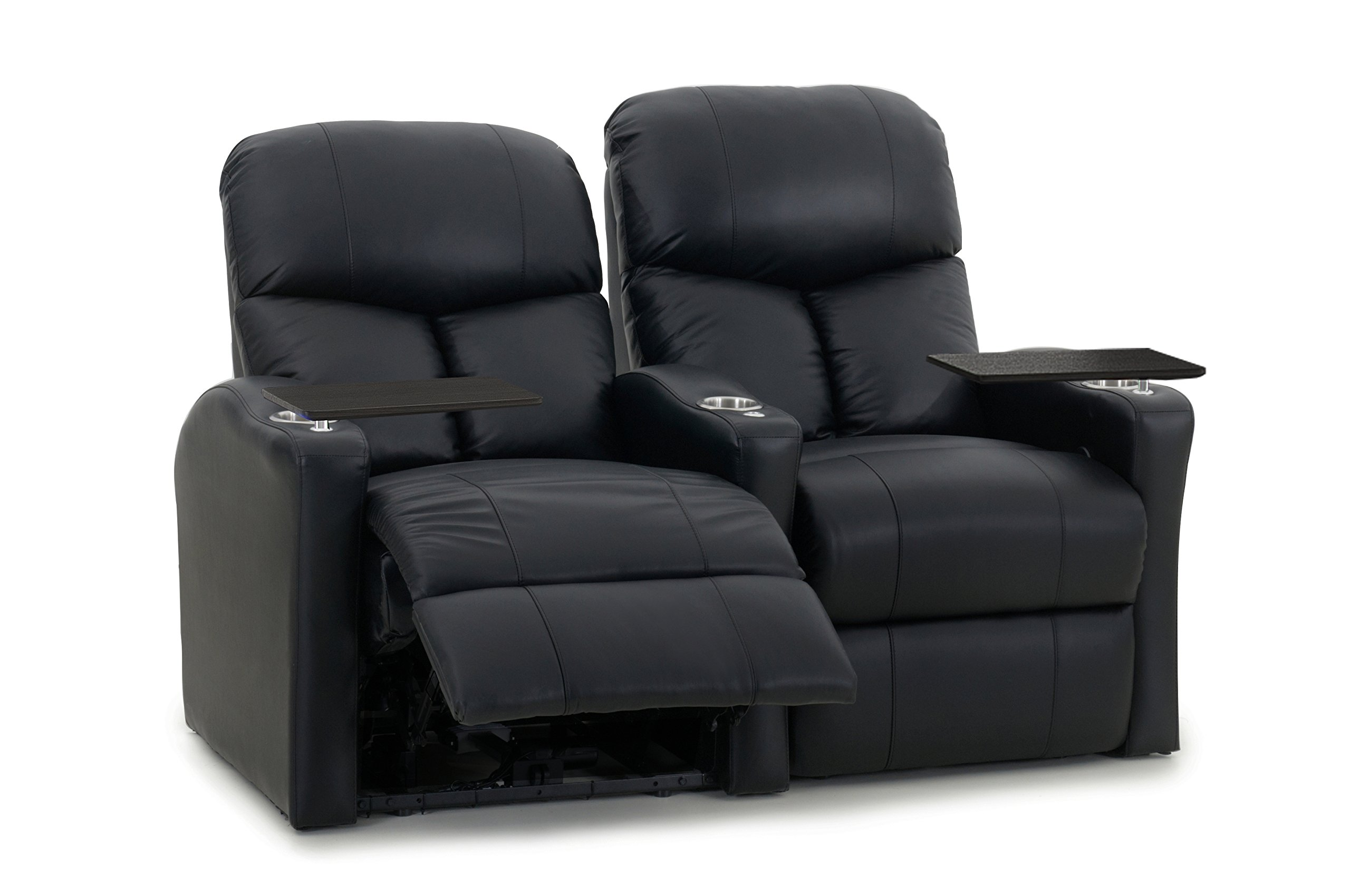 Octane Seating BOLT-R2SP-BND-BL Octane Bolt XS400 Motorized Leather Home Theater Recliner Set (Row of 2)