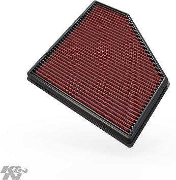K/&N 33-3051 Recambio Filtro de Aire Coche Lavable y Reutilizable