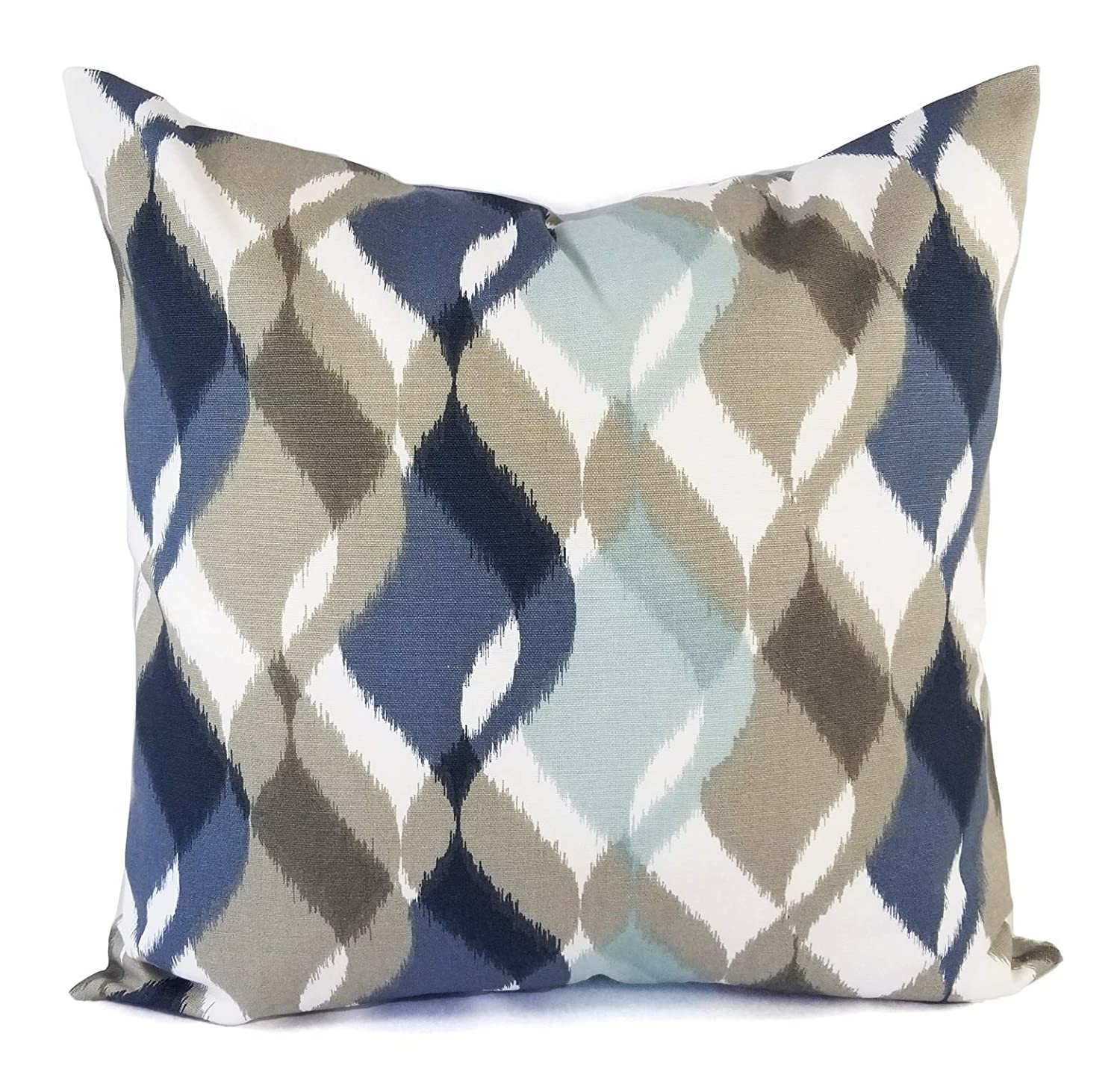 Amazon.com: Blue and Brown Pillows   Navy Blue and Brown Pillow