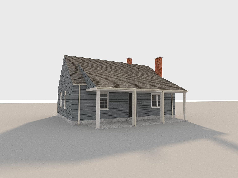 2 Story Farmhouse Plans DIY 3 Bedroom Farm Home 832 sq//ft Build Your Own