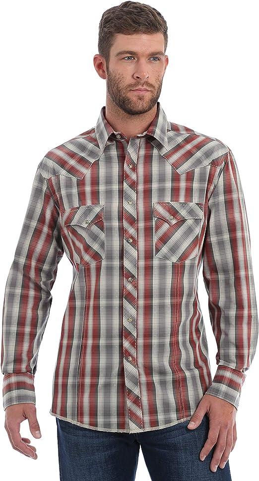 Wrangler Mens Fashion Snap Long Sleeve Shirt