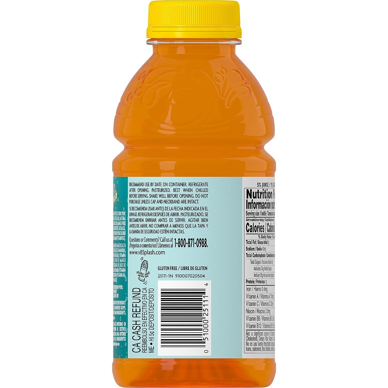 Amazon.com : V8 Splash Mango Peach, 16 oz. Bottle : Grocery & Gourmet Food
