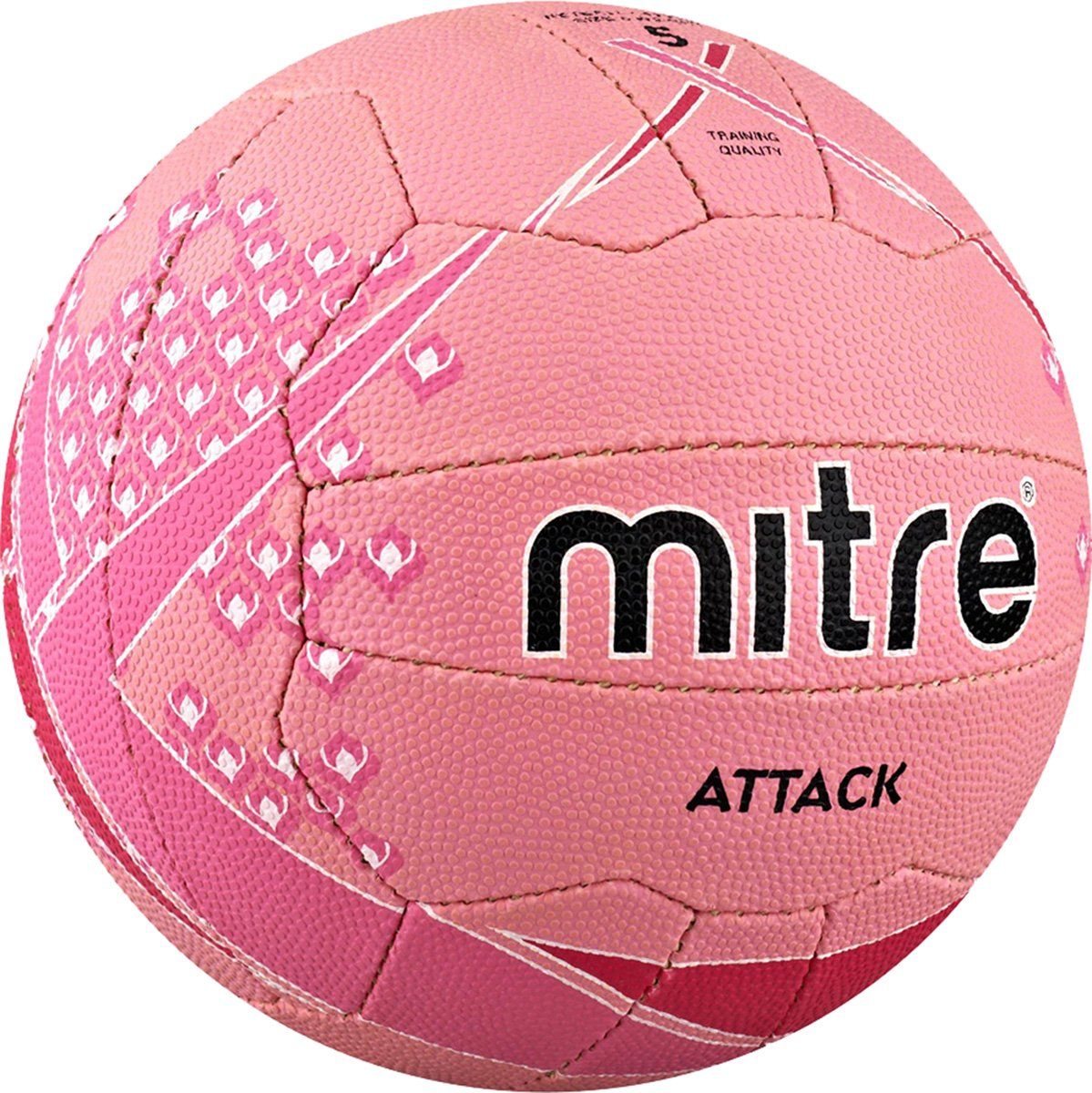 CreativeMinds UK Mitre Attack Training Match All Surface Netball Ball Pink *** New