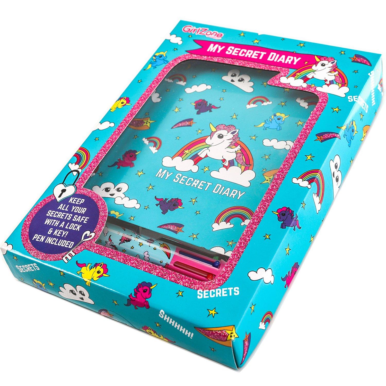 GirlZone: Unicorn Secret Lockable Journal Diary and Pen Set for Girls by GirlZone