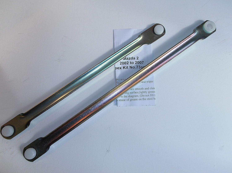 To Fit.Mazda 2 2002-2007 Wiper Motor linkage Push Rod Set Wipex Wipex ltd Kit 73