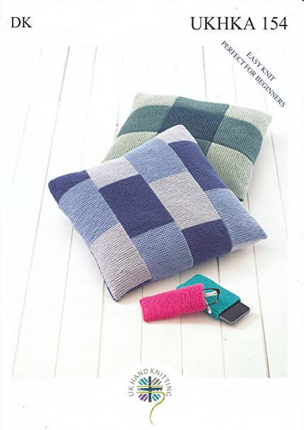 Amazon Double Knitting Dk Pattern For Easy Knit Cushion Covers