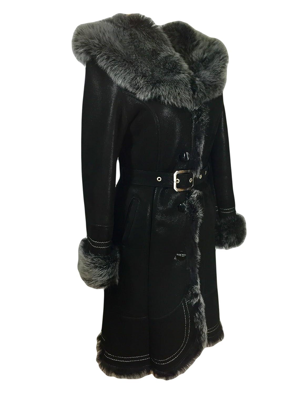 Mantel mit fellkapuze