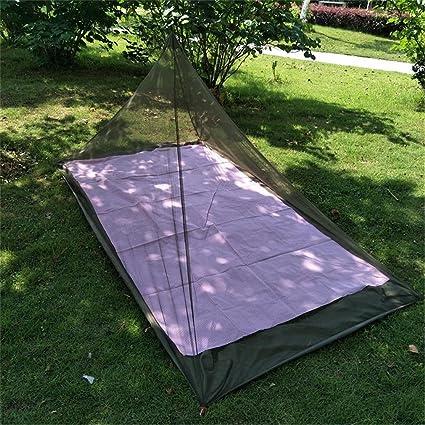 Lit Simple CFtrum Pyramide Moustiquaire Lit de Camping de Voyage