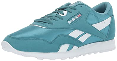 752318efb4d Image Unavailable. Image not available for. Color  Reebok Women s Classic  Nylon Sneaker Mineral Mist White ...