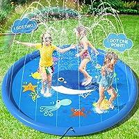 Peradix Waterspel sprinkler pad, zwembad fontein 170Cm splash pad sprinkler pad water play mat voor outdoor zwemmen…