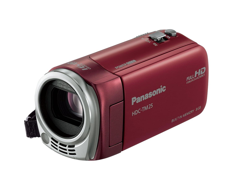パナソニック デジタルハイビジョンビデオカメラ TM25 内蔵メモリー8GB レッド HDC-TM25-R  レッド B004JKNDNS