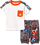 [アディダス] トレーニングウェア I グラフィック Tシャツ&ロークロッチパンツ 上下セット [ジュニア] FTM89