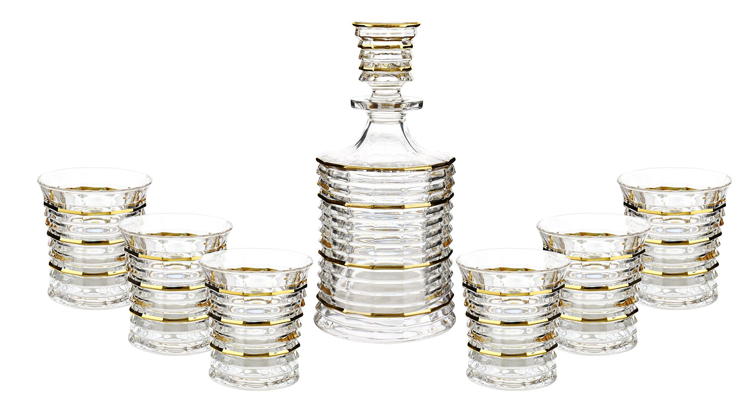 WINE BODIES ZG26205 Liquor Decanters Gold
