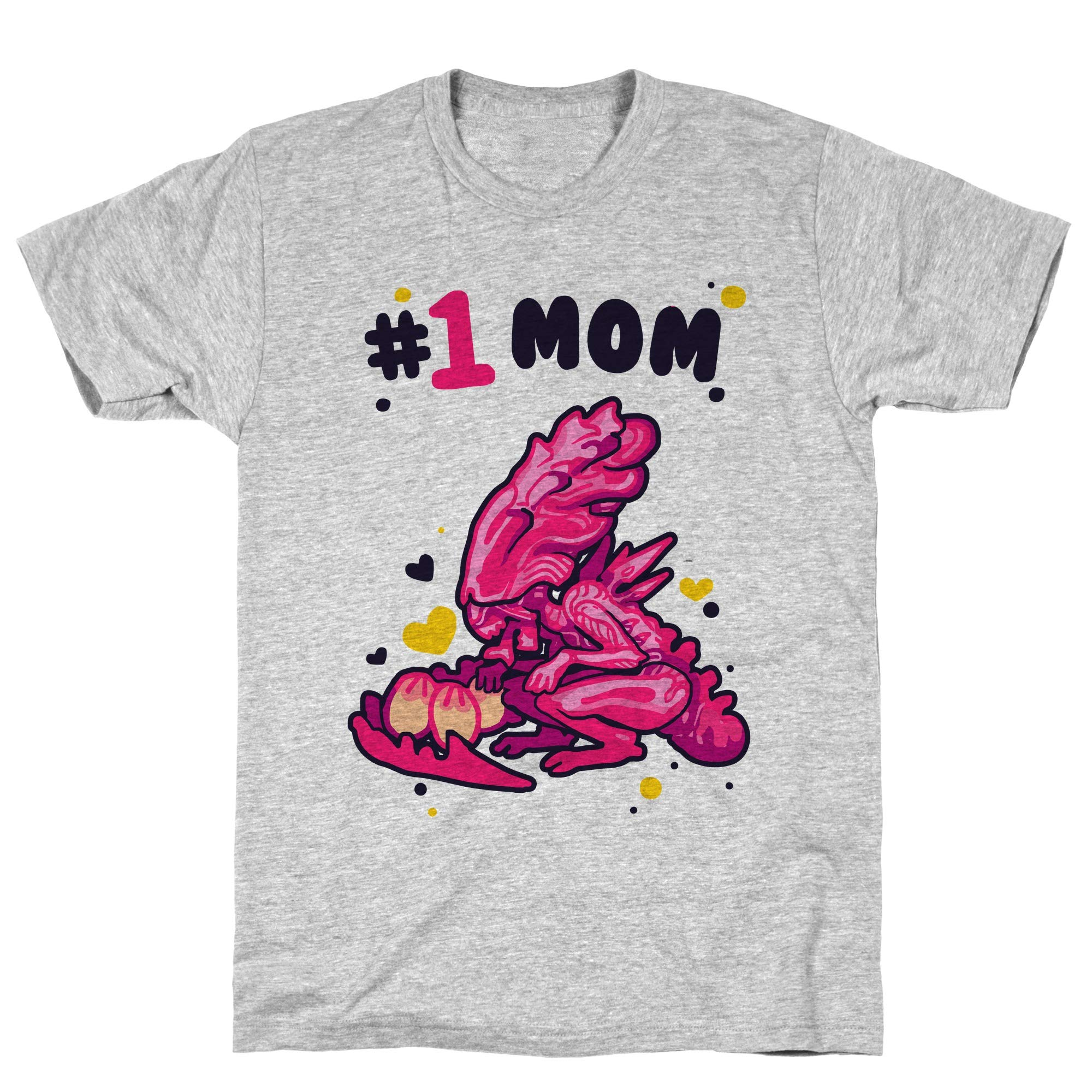 Alien Queen 1 Mom Athletic Gray S Ts Shirts