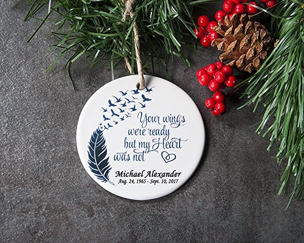 Personalized In Memory of Christmas Ornament, Loss of Loved One, Sympathy  Gift for Memorial - Amazon.com: Personalized In Memory Of Christmas Ornament, Loss Of