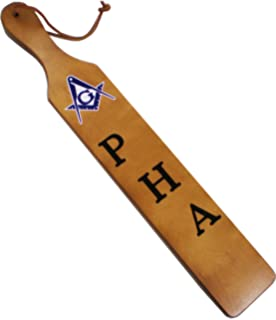 """Phi Beta Sigma Branded Letters Traditional Paddle Brown - 22x3.5/"""""""