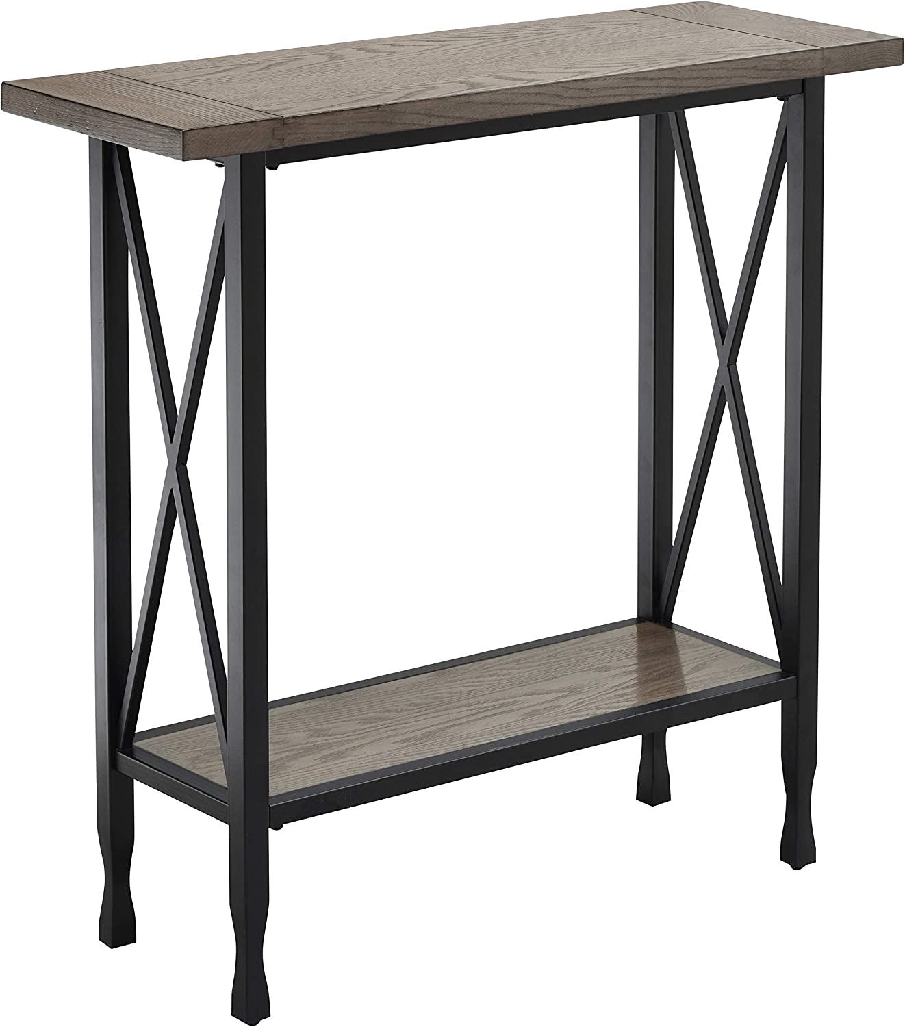 Leick Home Chisel&Forge Hall Console, Smoke Gray/Black